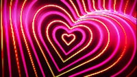 Neon Love Hearts Tunnel Spin