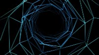 Neon Wireframe Tunnel