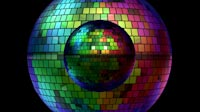 Rainbow Disco Ball Moving Pattern 2
