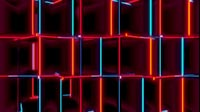 Red And Blue Cubes Close Up Spin