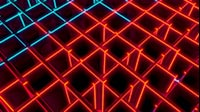 Red And Blue Cubes Diagonal Wave