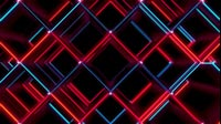 Red And Blue Cubes Rotated Wave