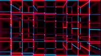 Red And Blue Cubes Vertical Accordion