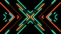 Retro Neon Cyan Orange Cross