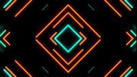 Retro Neon Cyan Orange Square