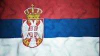 Serbian Flag Video Loop