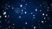 Starlike Snowflakes On Blue Background Falling Down