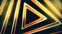 Stylish Orange Triangles Endless Visual