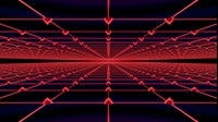 Surreal Visuals Infinite Red Retro Grid