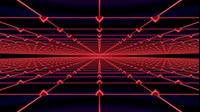 Surreal Visuals Infinite Red Retro Grid
