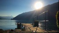 Swiss Lake Jetty Sunny