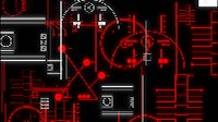 Techno Patterns Red Schematics 4