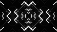 VJ Tunnel Of Black And White Geometric Growing Shapes