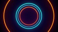 VJ Tunnel Of Circle Lights On Off
