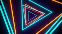 VJ Tunnel Of Triangle Lights Always On