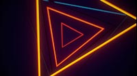 VJ Tunnel Of Triangle Lights On Off