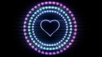 Valentine Heart Love Tunnel Neon