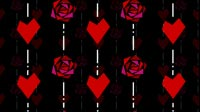 Valentine Roses And Hearts Moving Background