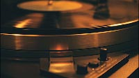 Vinyl Record Spinning On Vintage Turntable Close Up 2