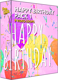 Free Loops - Happy Birthday Balloons Confetti - Download