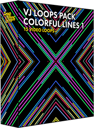VJ Loops Pack Colorful Lines 1