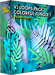 VJ Loops Pack Colorful Jungle 1