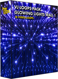 VJ Loops Pack Glowing Lights Wall 1