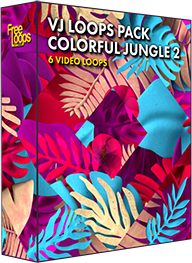 VJ Loops Pack Colorful Jungle 2