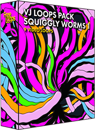 VJ Loops Pack Squiggly Worms 1