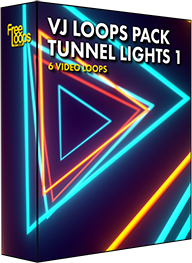 VJ Loops Pack Tunnel Lights 1