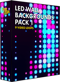 LED Wall Backgrounds Pack 1