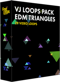 VJ Loops Pack EDM Triangles