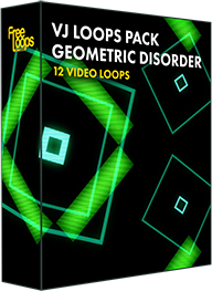 VJ Loops Pack Geometric Disorder